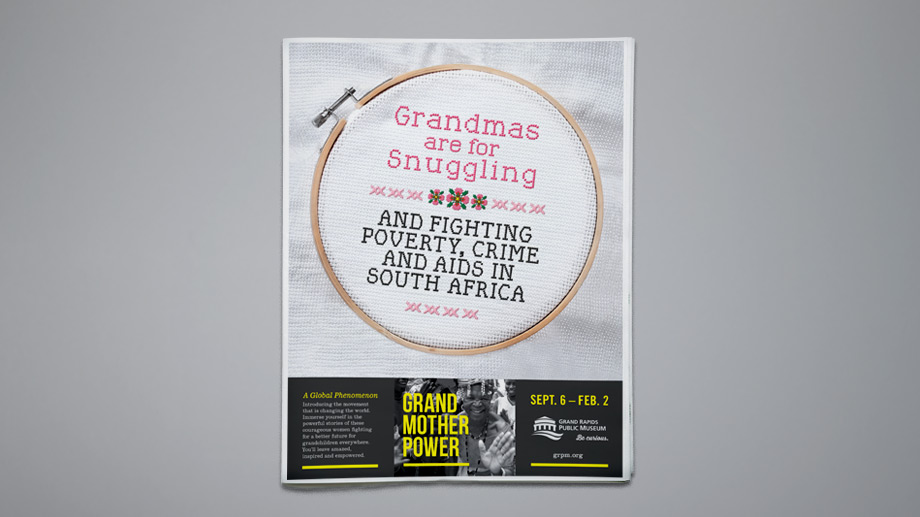 The marketing campaign paired Granny imagery with disruptive messages.