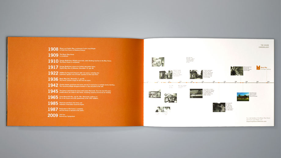 Timeline featured in the print brochure.