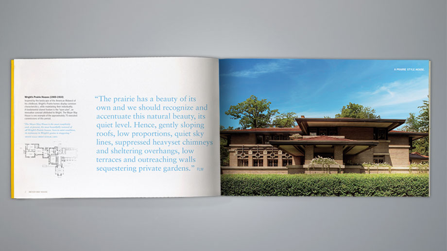Print brochure celebrating the 100th anniversary of the Meyer May House.