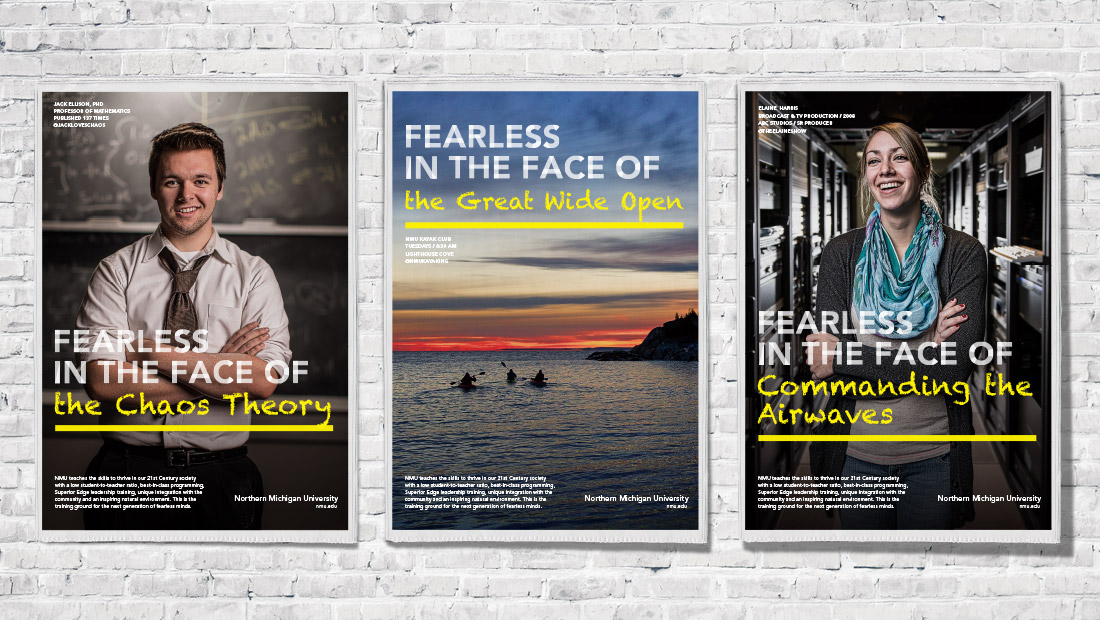 Fearless Campaign poster series.