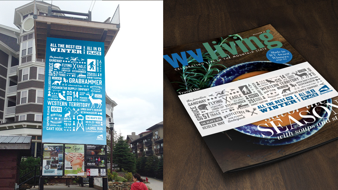 The visual voice extended from signage to magazine cover wraps.