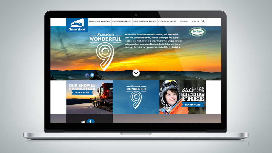 Snowshoe's Wonderful 9 is proof of the brand promise.