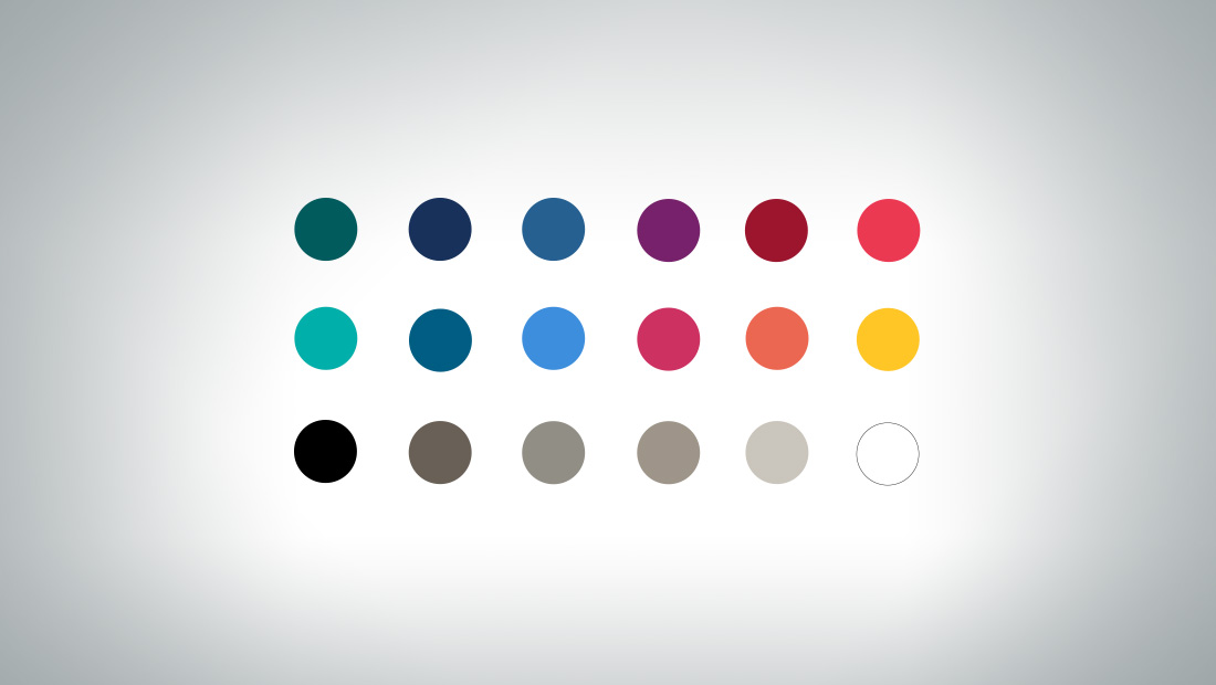 A color palette was developed for use at the hotel and in communications.
