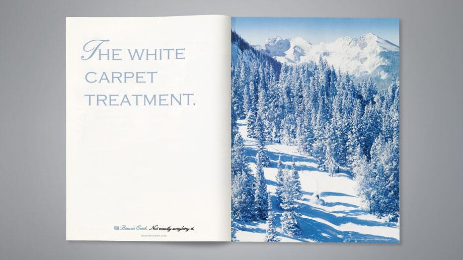 Like all true luxury, the advertising was declarative through elegant understatement.