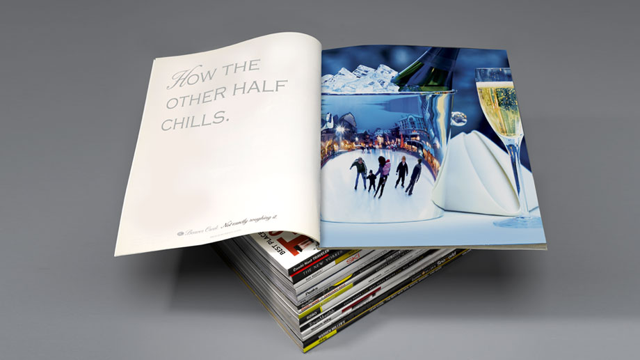 The new positioning was launched in Condé Nast and ski industry magazines.