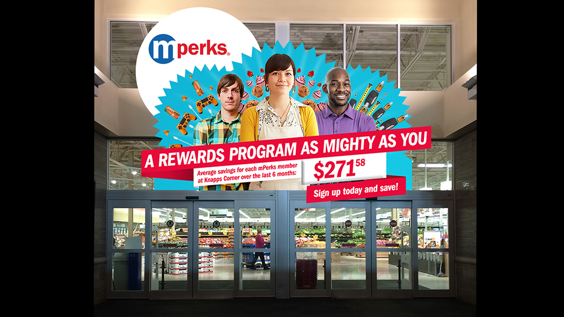 A hard-to-miss message: the mighty mPerks members also delivered average store savings.
