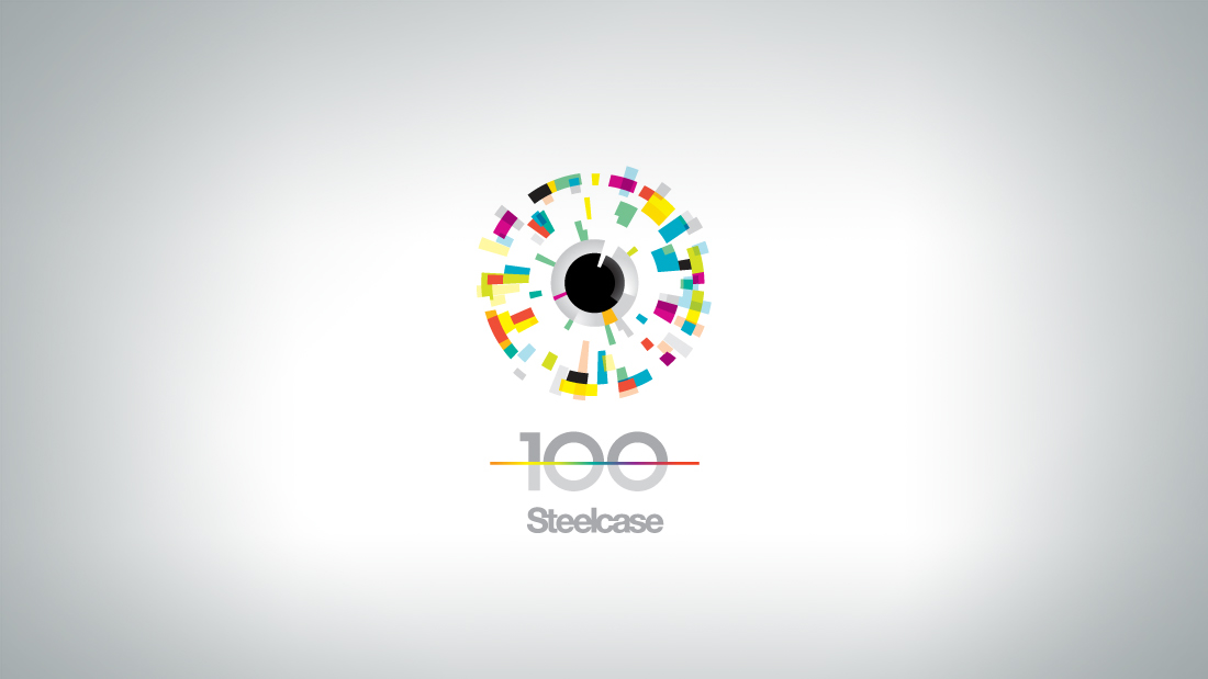Steelcase built its business on human insight - this inspired the commemorative mark.