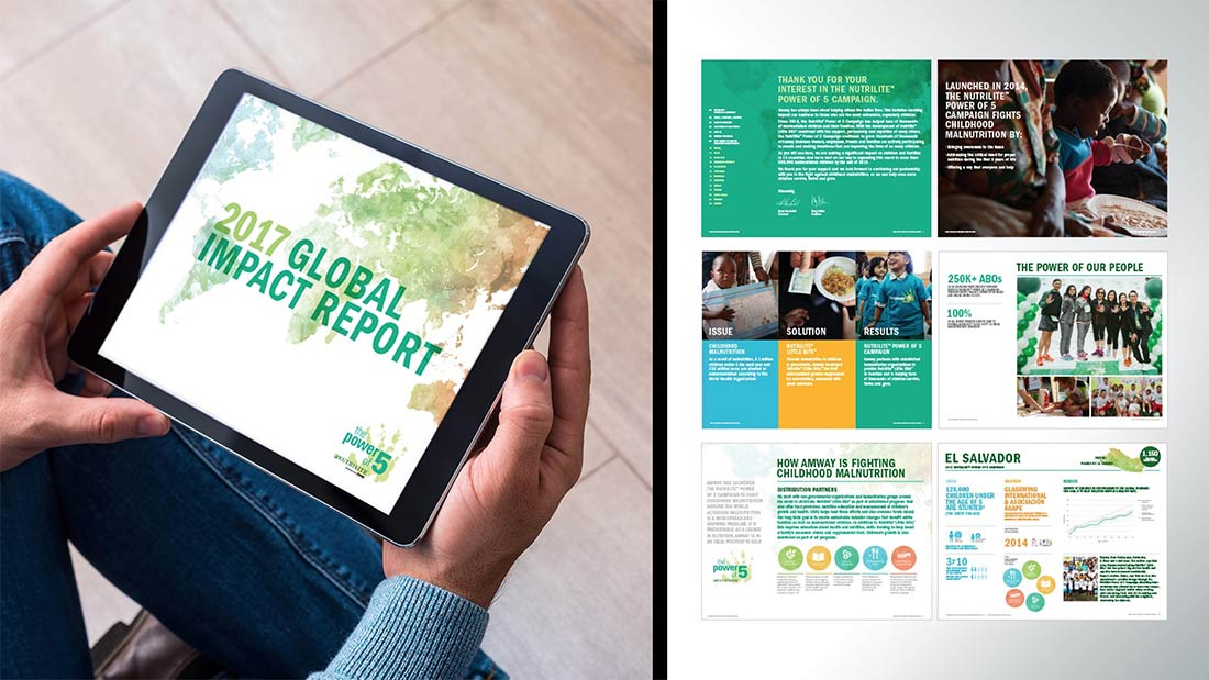 The Impact Report showcases Power of 5 activities and results around the world.