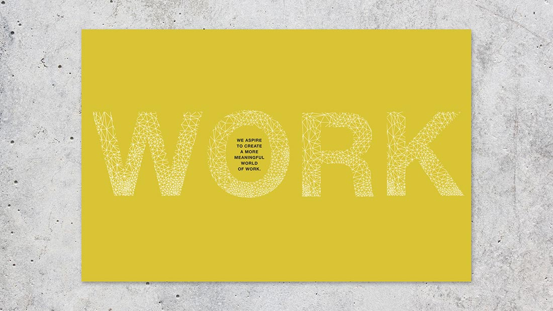 A manifesto book was developed to bring to life key phrases, and visually support the written narrative.