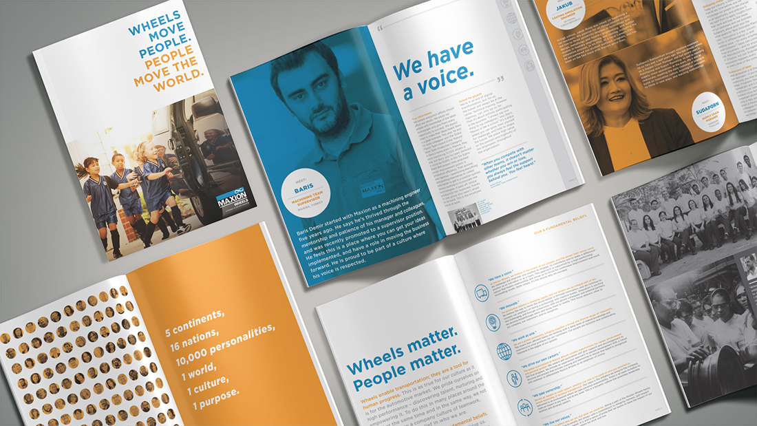 A recruitment brochure used real-life stories to add a human dimension to the employer brand