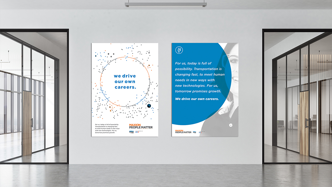 A poster series featuring employees aptly illustrates the employer brand promise, People Matter
