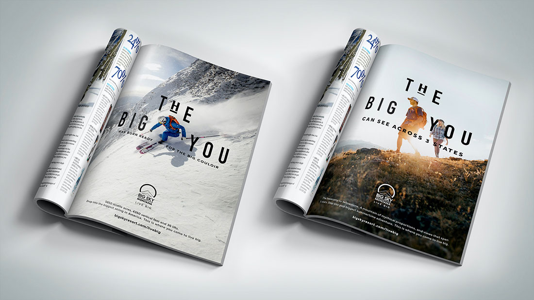 The campaign frames a central experience that focuses on the person, instead of the mountain.