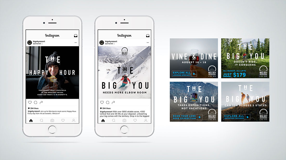 Throughout paid and owned media, The Big You delivers pure brand, pure tactical, and in-between.